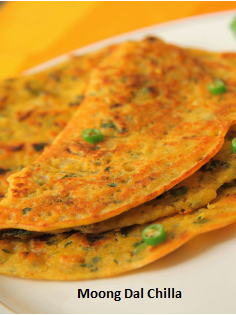 5 Tasty Healthy Breakfast Ideas: Moong daal chilla