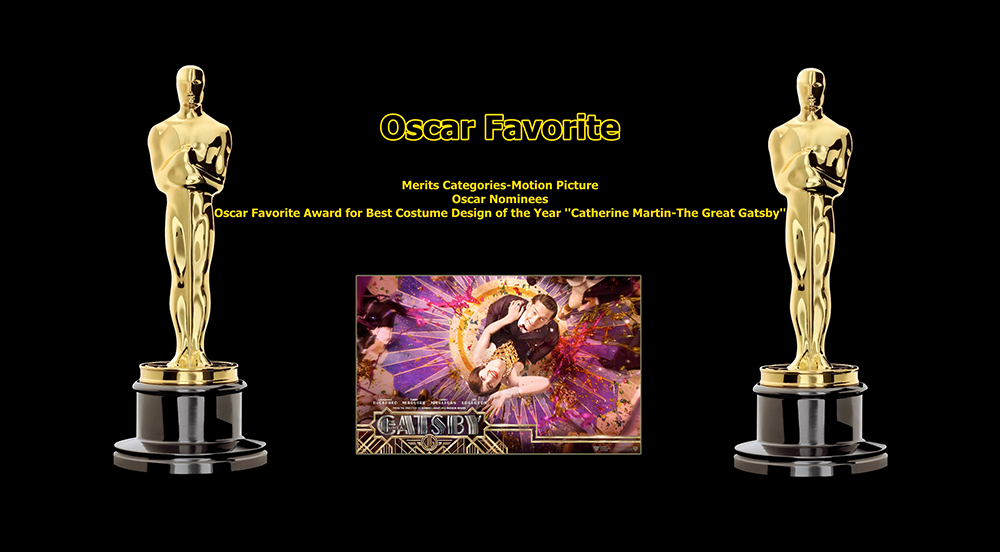 oscar favorite best costume design award catherine martin the great gatsby