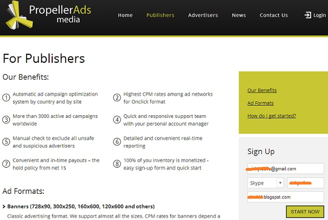 Propellerads Media Alternative Adsense