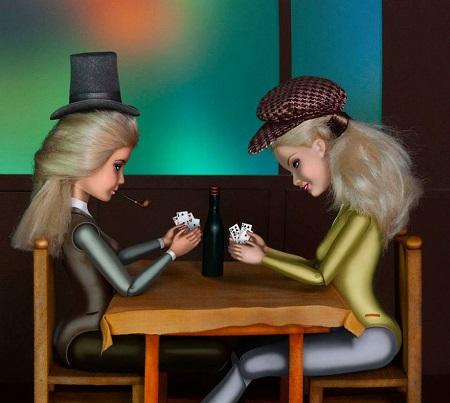 Barbie - Os Jogadores de Cartas da artista Catherine Théry