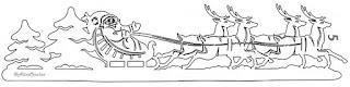 санта на оленяхвытынанка