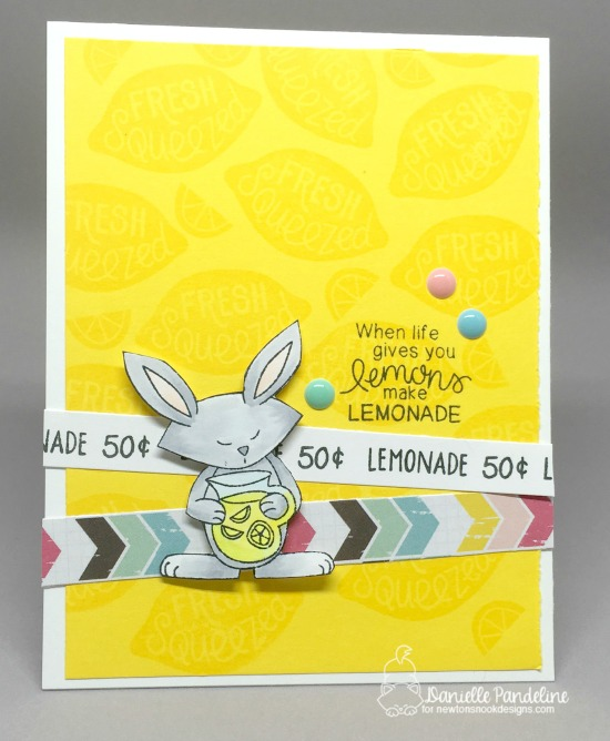 Lemonade Card by Danielle Pandeline | Freshly Squeezed Stamp set by Newton's Nook Designs #newtonsnook