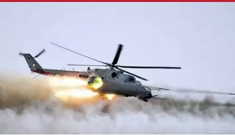 newly acquired Mi-35M helicopter gunships