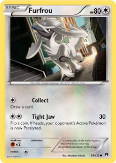 Furfrou BREAKpoint Pokemon Card