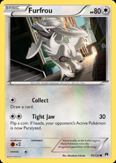 Furfrou BREAKpoint Pokemon Card