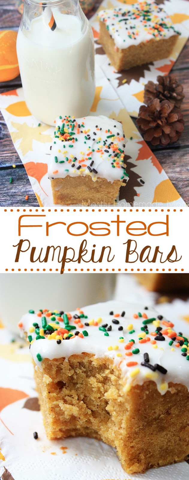 Frosted Pumpkin Bars Dessert Recipe