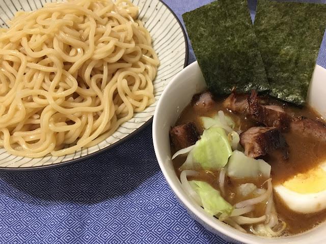 日清食品「頑者つけ麺 濃厚魚介豚骨」調理例
