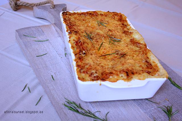 Lasagne - A Floral Sunset