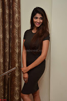 Priya Vadlamani super cute in tight brown dress at Stone Media Films production No 1 movie announcement 068.jpg