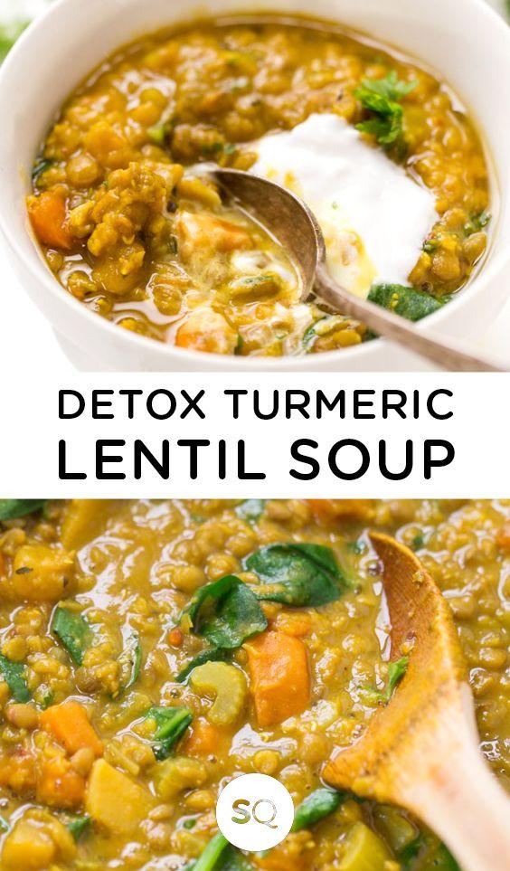 Detox Turmeric Lentil Soup