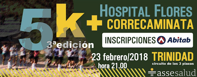 5k Carrera nocturna por el Hospital de Flores (3a.ed.; Trinidad, Flores; 23/feb/2018)