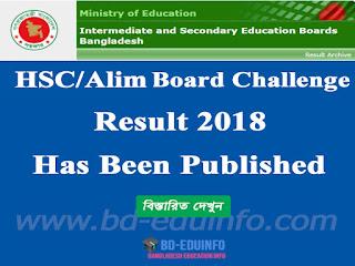 HSC Alim Equivalent Board Challenge Result 2018