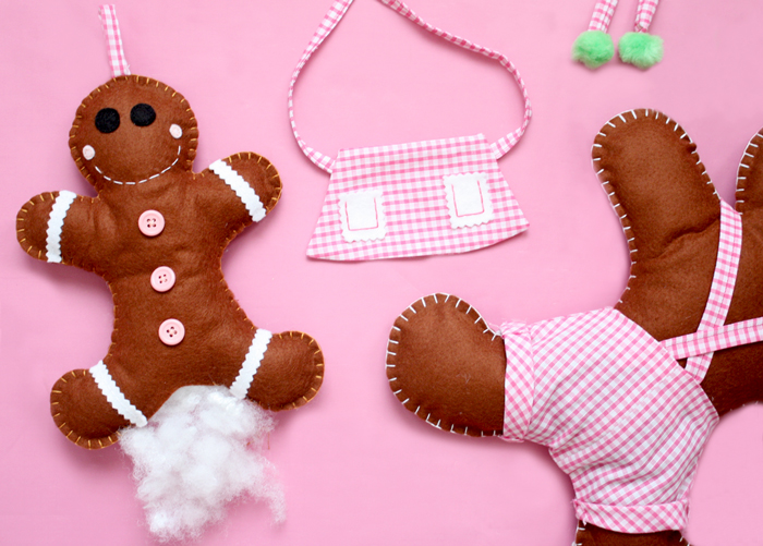 diy felt gingerbread tutorial