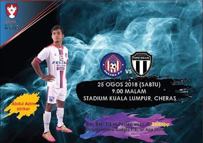 Live Streaming FELCRA FC vs Terengganu Piala Malaysia 25.8.2018