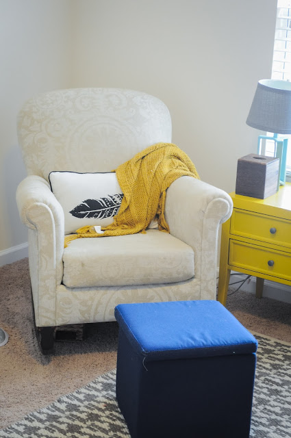 Reading or Nursing Corner with Upholstered Rocking Chair