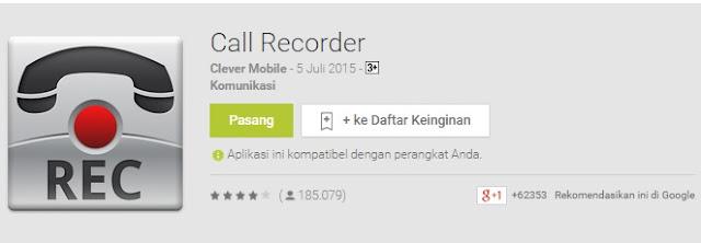Call Recorder dari Clever Mobile