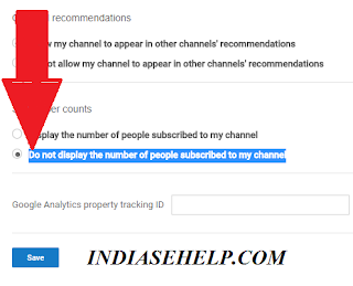 how to hide subscribers from youtube