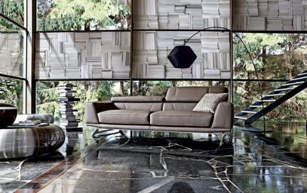 diseño de sala gris