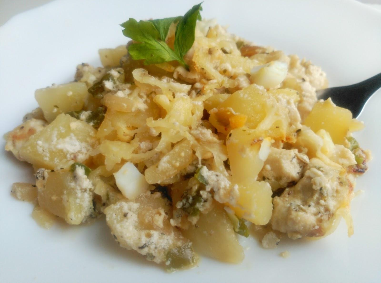 Gratinado de patatas con pollo al horno recetas fitness - Pechugas de pollo al horno con patatas ...