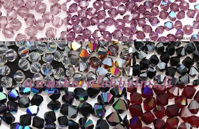 Tsekkiläiset kristalli lasihelmet, helmikauppa, korutarvikkeet,