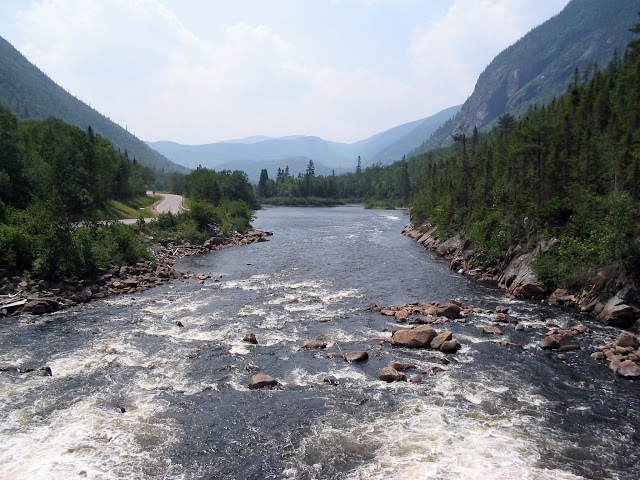 La Malbaie River in the High Gorges of the River Malbaie National Park