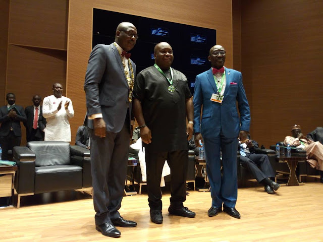 Dr. Ifeanyi Ubah, Gov. Lalong, Gov. Geidam, NNPC GMD, others conferred with the prestigious Fellowship award of the Institute of Chartered Mediators and Conciliators (ICMC)