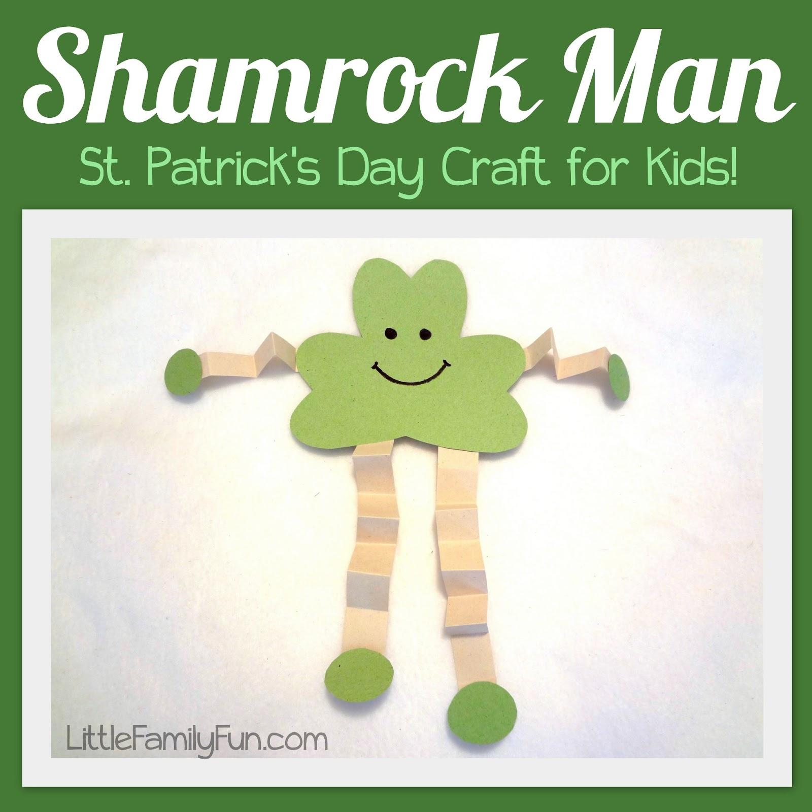 St Patricks Day Crafts: Shamrock Man