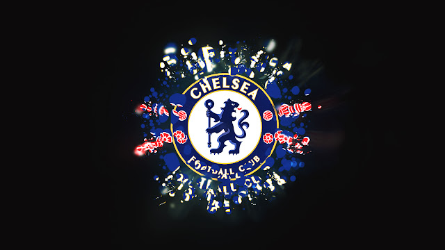 In Dark Background Chelsea FC Golden Blue Wallpaper HD