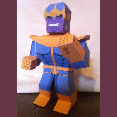 Marvel Comics Thanos Paper Toy