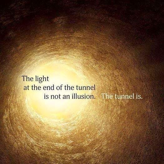 Quote Challenge Day 1 - The light at the end of the tunnel
