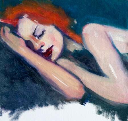 Sleeping redhead pics are