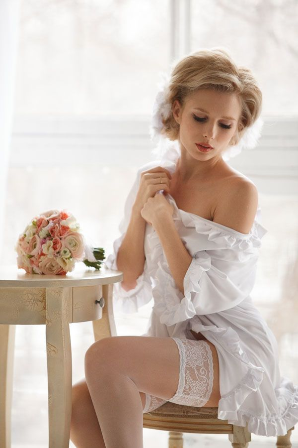 Lingerie Models: Brides in Lingerie and Stockings