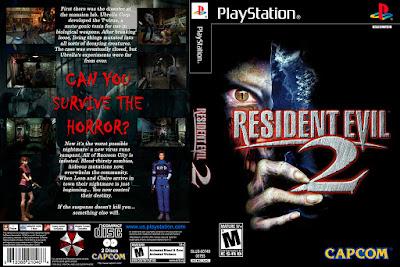 Jogo Resident Evil 2 PS1 DVD Capa
