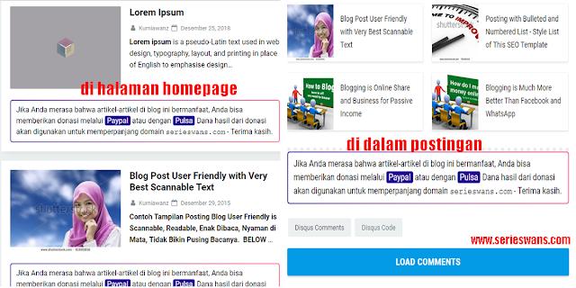 Cara Membuat Pesan di Bawah Postingan Blog Seperti KompiAjaib