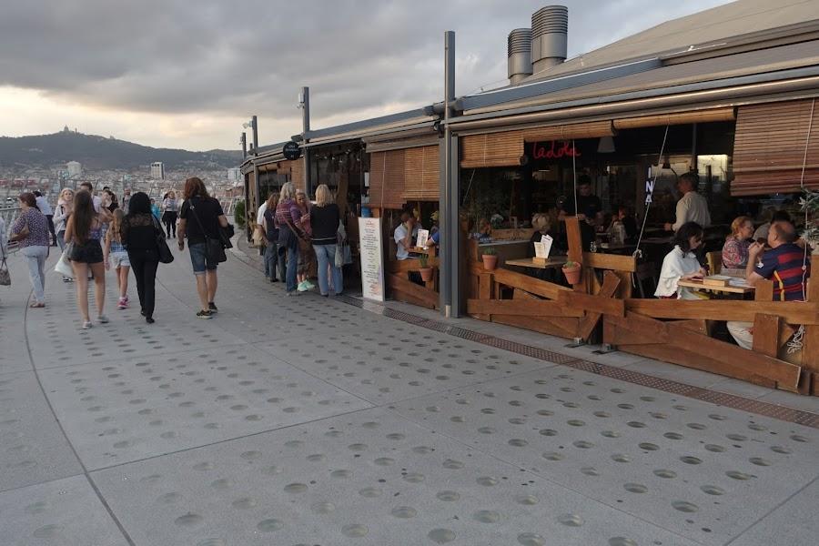 ラス・アレナス(Las Arenas)屋上の飲食店街