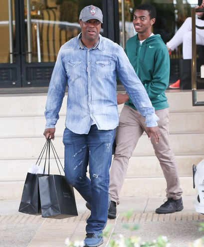 Chris Tucker and his look-alike son step out for some ...