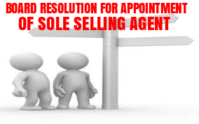 Board-Resolution-Appointment-of-Sole-Selling-Agent