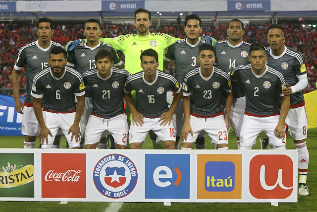 Formación de Paraguay ante Chile, Clasificatorias Rusia 2018, 31 de agosto de 2017