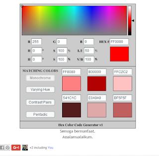 Membuat Generator Kode Warna Sendiri