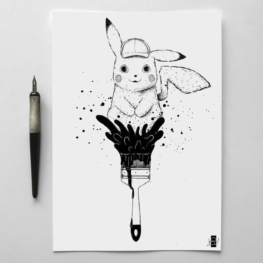 03-Pikachu-Sailing-Vladimir-Rudoi-www-designstack-co
