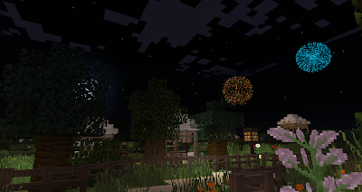 minecraft hobbiton bagshot row party field gandalf firework
