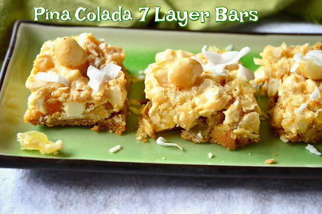 Pineapple, Coconut, Macadamias, Cookie Bars