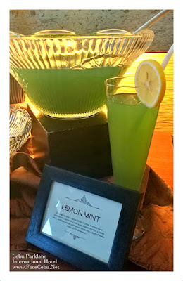 Cebu Parklane International Hotel Tea-based Cocktails: Lemon Mint