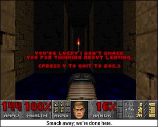 Smack to DOS.