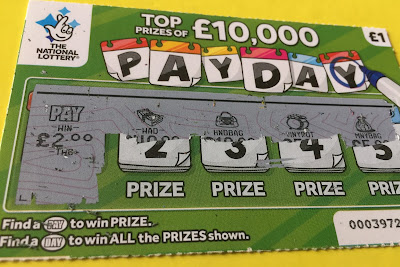 £1 Pay Day Scratch Card From The National Lottery
