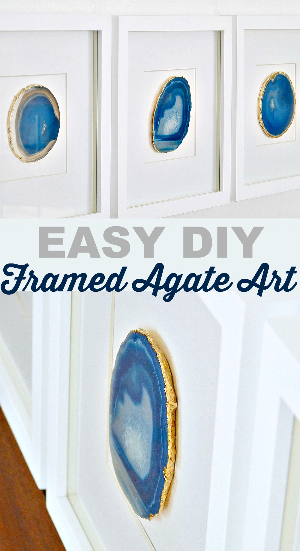 Diy agate art framed blue agate slices dans le lakehouse norrie pottery and now the framed agate slices the dining room has become such a fun and lively space with lots of character and personal touches solutioingenieria Choice Image