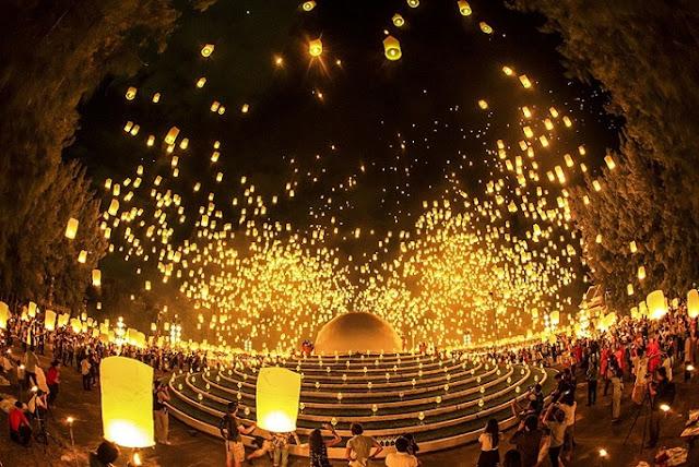 Loy Krathong, Festival Lampion Indah di Thailand