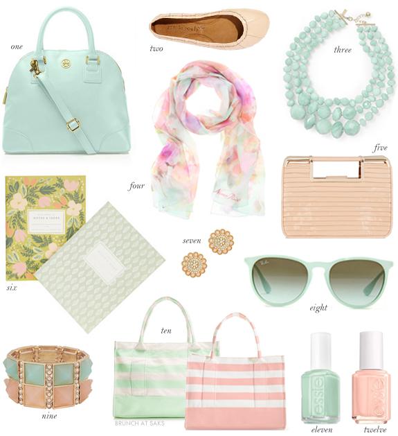 Mint Green Peach Accessories