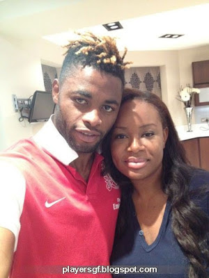 Alex Song and his girlfriend Olivia