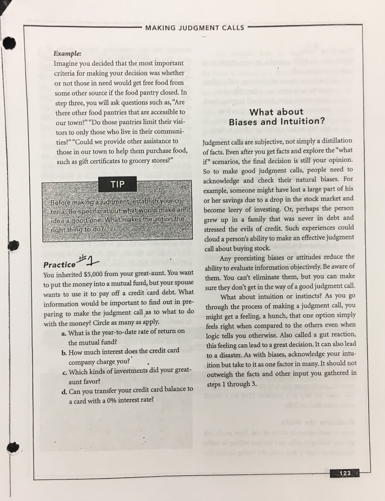 Foundational Leading With Critical Thinking